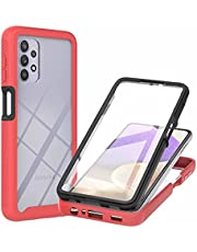 CRABOT Compatible with Samsung Galaxy A01 Core Case Dust-Proof Shockproof Full Protection Cases Built-in Screen Protector Body 360℃ Fully Sealed Protective Front and Back Cover-Red
