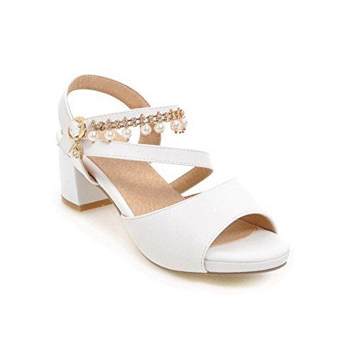 Urethane Kitten BalaMasa Womens Sandals Sandals Huarache ASL04813 White Heels EwqwrdX