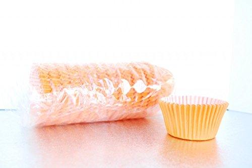 BULK CUPCAKE CASES PACK OF 180 - VARIOUS COLOURS (Orange)