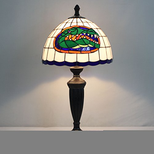 Gweat 12-inch NCAA Florida Gators Stained Glass Table Lamp