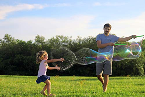WOWMAZING Giant Bubbles Family Pack - Best Value - Big Bubbles kit Including Big Bubble Wand and Giant Bubble Solution Concentrate (Makes 2 Gallon of Large Bubbles) by WOWMAZING (Image #3)