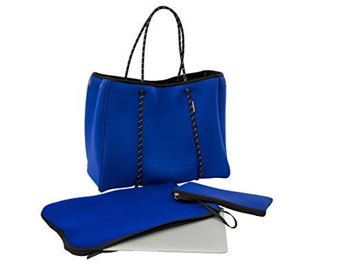 Large Neoprene Beach Tote Bag - Multipurpose with Matching Purse Inner Pocket by Handloom Homewares