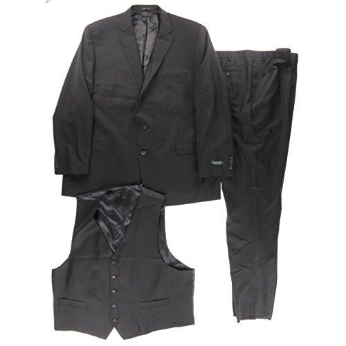 Ralph Lauren Two Button Suit (Lauren Ralph Lauren Mens Wool 3PC Two-Button Suit Black 54L)
