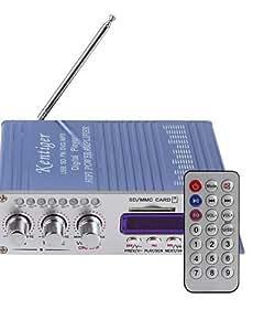 NBCVFUINJ® hy502 amplificador de potencia de audio estéreo de automóvil motocicleta mini digital fm apoyo reproductor de música de sonido mp3 usb dvd