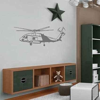Amazoncom Helicopter Vinyl Jumbo Wall Applique Decor Sticker