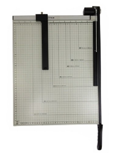 Paper Cutter Guillotine Style 18'' Cut Length X 15'' Inch Metal Base Trimmer