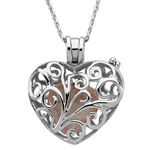 Sterling Silver Filigree Always in My Heart Locket Necklace, 18'' by The Men's Jewelry Store (for HER)