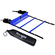 Yes4All Speed Agility Ladder with Carry Bag - Multi Choice: 8, 12, 20 Rung