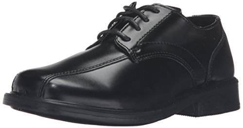 (Deer Stags Gabe Lace-Up Dress Shoe (Toddler/Little Kid/Big Kid),Black,4 M US Big Kid)