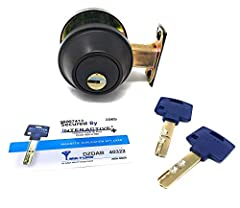 """Unlike the lower-end version """"Junior"""", this Mul-T-Lock Interactive+ deadbolt provides key control (keys will only be duplicated if you present you key-card) and real drill, pick and bump resistance. High quality construction, built to last a ..."""