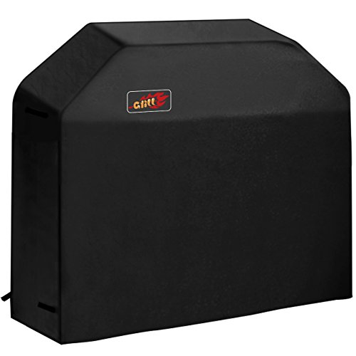 Bbq Grill Cover (VicTsing 3-4 Burner Gas Grill Cover Heavy Duty Fits Most Brands of Grill - 58 inch 600D Waterproof BBQ Grill Cover + Storage Bag (UV & Dust & Water Resistant, Weather Resistant, Rip Resistant))