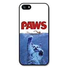 Jaws Paws Funny Cat Movie Poster case for iPhone 5 5S A8267