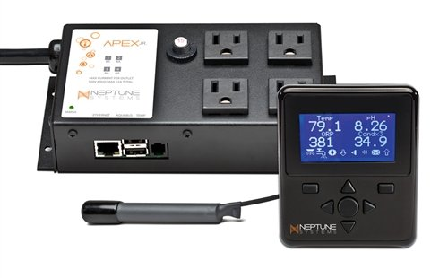 Neptune Systems Aqua Controller Apex Junior, Display and Temp Probe