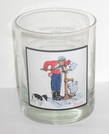 (Arby's Norman Rockwell Pepsi Collector Glass Winter Scene ~ Chilling Chore)