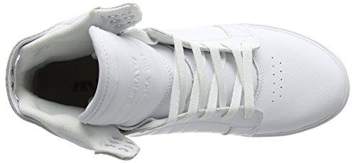 Supra SKYTOP - Zapatilla alta de cuero hombre White