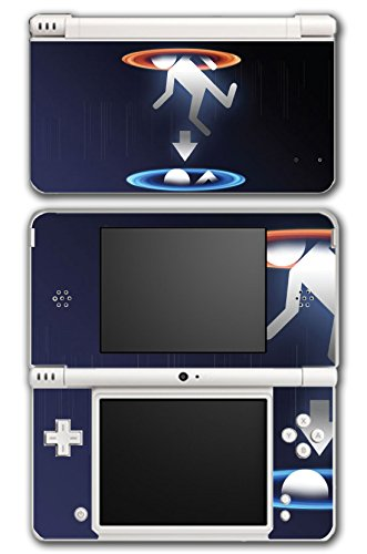 Portal 1 2 Gun Chell Gladdos Wheatley Aperture Science Video Game Vinyl Decal Skin Sticker Cover for Nintendo DSi XL System