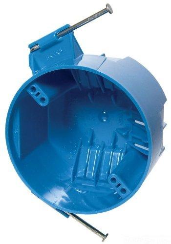 Carlon B520A-UPC Ceiling Fan Box, New Work, 4-Inch Diameter by 2-1/4-Inch Depth, Blue