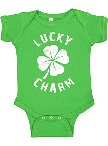 Panoware Funny Baby St. Patrick's Day Bodysuit | Lucky Charm, Apple, 3-6 Months (Lucky Baby Names As Per Date Of Birth)