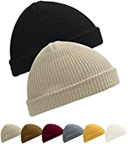 Kordear Trawler Beanie Daily Wearing Roll up Knitted Hat, Fisherman Beanie Hat for Unisex