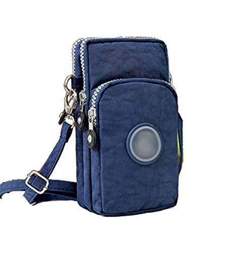 3-Layers Cellphone Pouch Wristlet Purse Waterproof Sports Armband Shoulder Bag Wallet