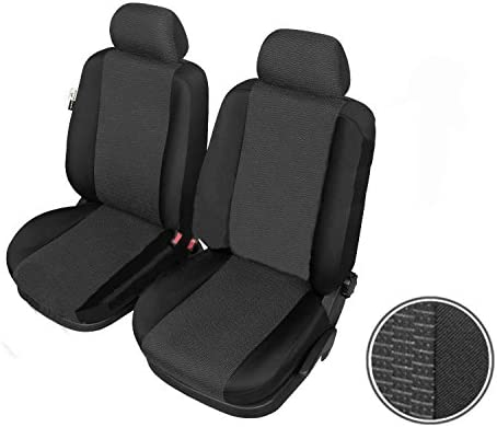 Heavy Duty S- tech automotive Polo Hatchback Black Front Seat Covers//Protectors 1+1 Water Resistant