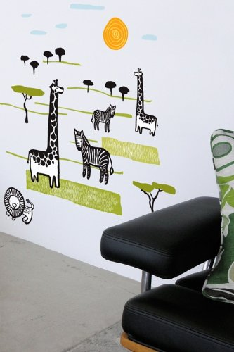 (Wee Gallery Safari Wall Stickers)
