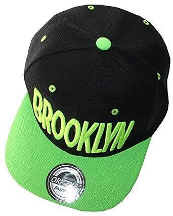 f204974c733 Brooklyn Snapback Cap - Black Neon Green