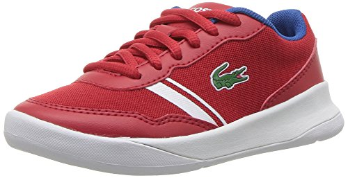 Image of Lacoste Kids' LT Spirit Sneakers,Red/Blue textile,12. M US Toddler