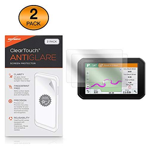 Garmin Dezl 780 LMT-S Screen Protector, BoxWave [ClearTouch Anti-Glare (2-Pack)] Anti-Fingerprint Matte Film Skin for Garmin Dezl 780 LMT-S | DezlCam 785 LMT-S