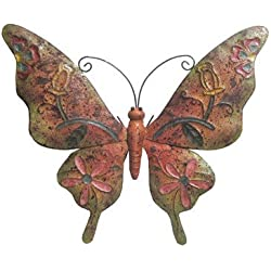 Very Cool Stuff Rusted Metal Butterfly Wall Art, 20""