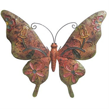 Very Cool Stuff Rusted Metal Butterfly Wall Art 20