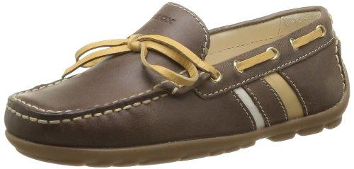 Geox J Fast A J42g5a0cl43c6646 - Mocasines de cuero para niños, color marrón, talla 35: Amazon.es: Zapatos y complementos