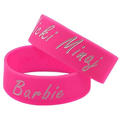 Sxuefang silicone bracelets with logo Nicki Minaj rubber wristbands for men and kids motivation set pieces Estimated Price £29.99 -
