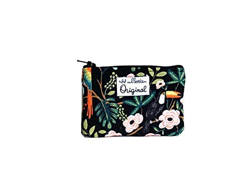 Coin Purse Tropical Bird, Small Coin Wallet, Change Purse, Cute Coin Purse by 144 Collection