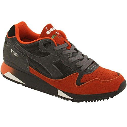 diadora-men-v7000-black-orange-castlerock-size-105-us