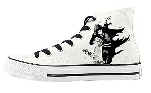 Bromeo Black Butler Unisex Segeltuch Hallo-Spitze Sneaker Trainer Schuhe
