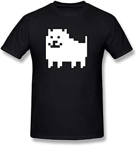 シャツ メンズ Undertale Annoying Dog ドッグ 犬 地下世界 モンスター 地獄 Tシャツ Black
