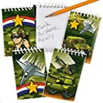 Pack of 12 - Paper Camouflage Spiral...
