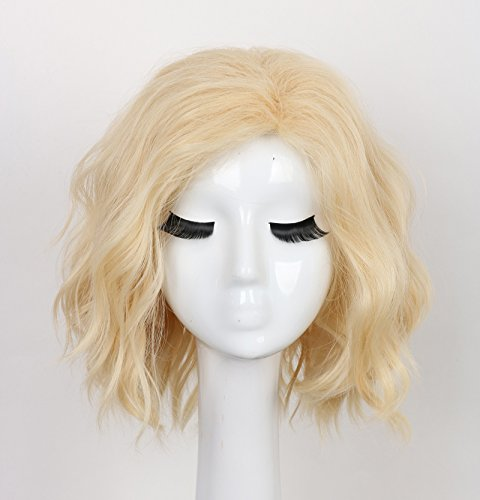 Yuehong Short Curly Blonde Wig Synthetic Anime Wig Fashion Wig Hot Heat Resistant Wigs Hair