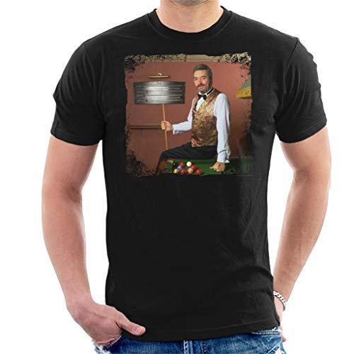 TV Times Snooker Player John Virgo from The Big Break Men's T-Shirt Black (Best Snooker Player Of All Time)