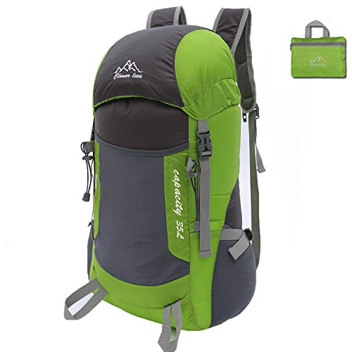 Price comparison product image SAMI STUDIO Hiking Backpack Ultra Lightweight Packable Backpack Water Resistant Daypack,Small Backpack Handy Foldable Camping Outdoor Backpack Little Bag Green