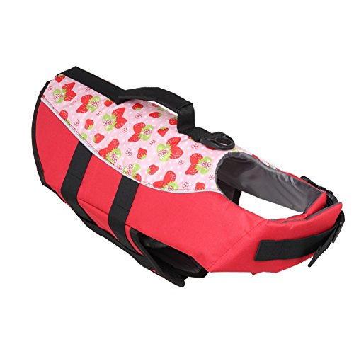 Yinrunx Pet Swimwear Dog Summer Polyester Mesh Buckled Life Vest Outdoor Beach Swimming Water Safety Preserver Apparel