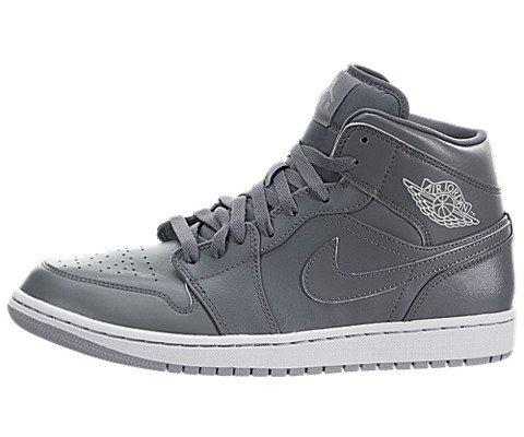 Nike Jordan Men s Air Jordan 1 Mid Cool Grey Cl Gry White Wlf ... c63a0257a