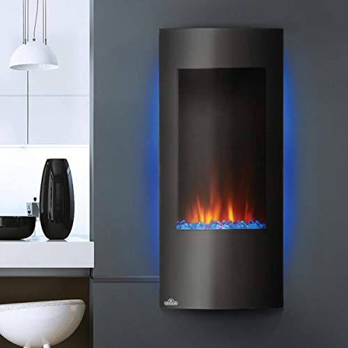 Napoleon 38 Inch Vertical Black Wall Mount Hanging Electric Fireplace ()