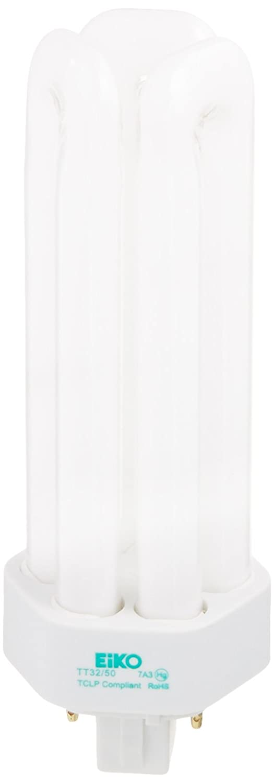 Eiko TT32 50 32W Triple Tube 5000K GX24q 3 Base Fluorescent Halogen Bulbs