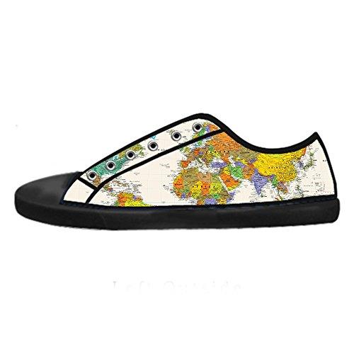 Accesible En Línea Barata Envío Libre Barato Custom Mappa del mondo Mens Canvas shoes I lacci delle scarpe in Alto sopra le scarpe da ginnastica di scarpe scarpe di Tela. Venta Barata Venta Genuina Comprar Tienda Barata Para KZwu1CKVX