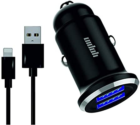 iPhone Car Charger Car Charger iPhone with 24W 4.8A Dual 5V//2.4A Port /& 6 Feet Certified Charging Cable Compatible with XR XS Max X 8 7 6S 6 Plus 5 SE 5S 5 5C Mini 2 3 4 Car Charger Adapter iPhone