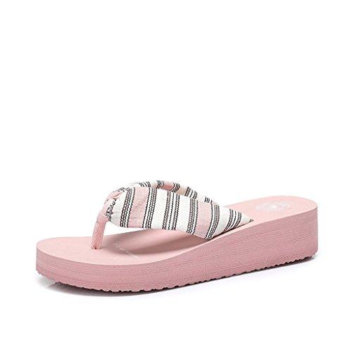Dimensioni Pink Sandali 6 Abbigliamento Sportive Blue colore Donna Scarpe Pantofole Moda Estate 0 6wp7fqz7Z