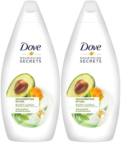Dove Nourishing Secrets Invigorating Ritual Body Wash, Avocado Oil & Calendula Extract, 16.9 Ounce / 500 Ml (Pack of 2) International Version