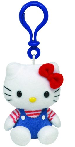 Hello Kitty Blue Overalls Keyclip (Hello Kitty Blue)